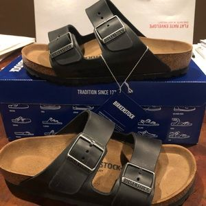 Birkenstock Arizona Black leather asst medium new